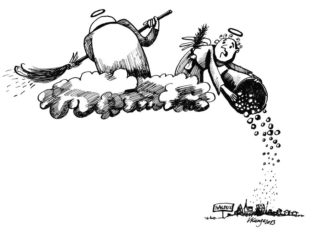 20-05-2013 — Vai šodien vajadzēja lielo pavasara tīrīšanu, kad Saldū ir svētki?