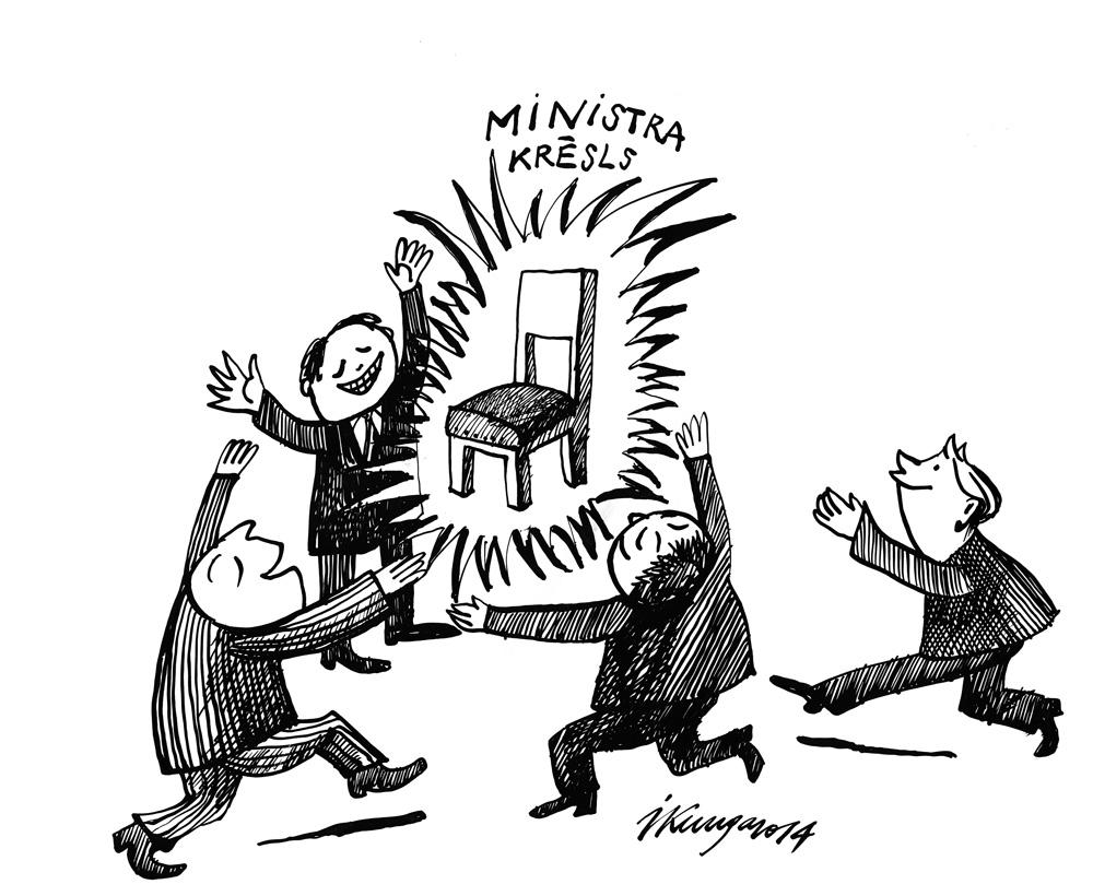 20-10-2014 — Šis brīnumainais Ministra krēsls, gribētāju daudz.