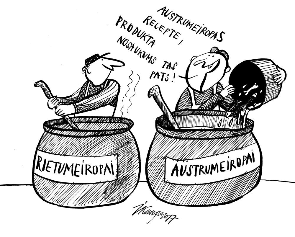 22-11-2017 Ir pārbaudīts, ka pārtikas sastāvs atšķiras vieniem un tiem pašiem produktiem Vācijā un Latvijā.