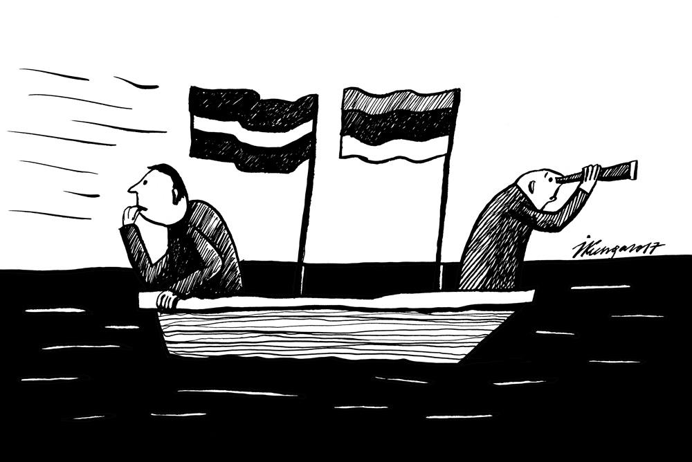 23-02-2017 — Igauņi skatās uz priekšu, latvieši — atpakaļ.