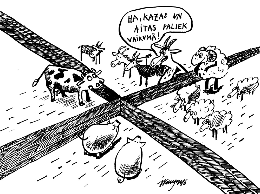 23-03-2016 — Latvijā pērn samazinājās cūku un liellopu skaits; pieauga aitu un kazu skaits.