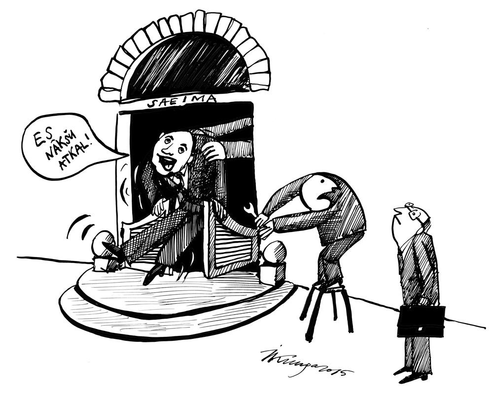 23-04-2015 — Saeimai jābūvē ātri veramās durvis, lai deputāts Liepiņš varētu to ātrāk pamest!