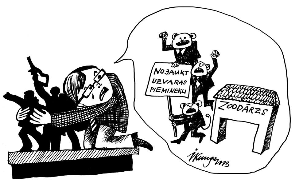 23-10-2013 Nils Ušakovs: — Tiem, kas grib manu mīļo Uzvaras pieminekli nojaukt, vieta Zoodārzā!