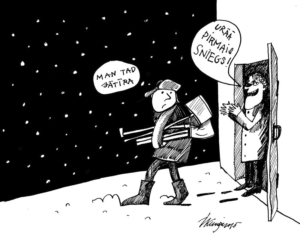 23-11-2015 — Pirmais sniegs.