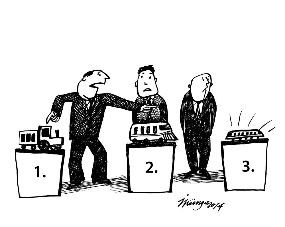 24-07-2014 - ir jāpārtrauc atkal jaunu elektrovilcienu iepirkums, trešais variants mums nav pa kabatai, tad drīzāk pirmais.