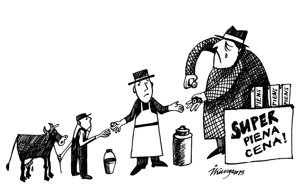 25-07_2013 Zemnieks — piena pārstrādātājs — un visvairāk pelnošais piena tirgonis.