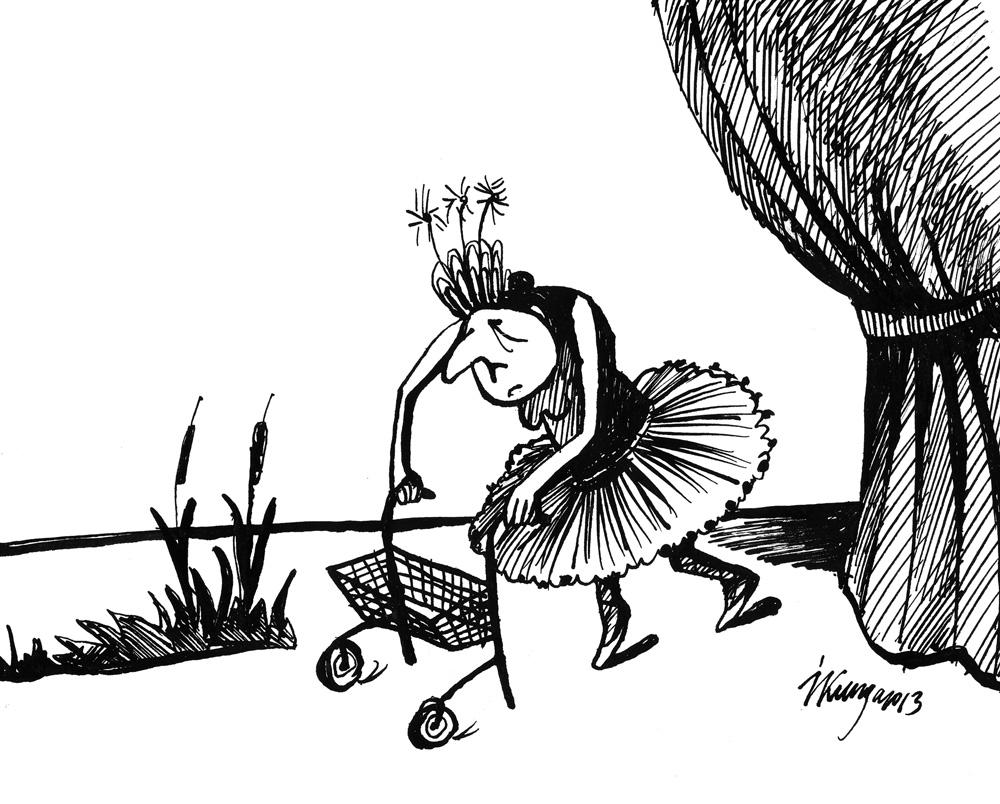 28-01-2013 Izrāde Gulbju ezers pēc izdienas pensijas likvidēšanas baletdejotājiem.