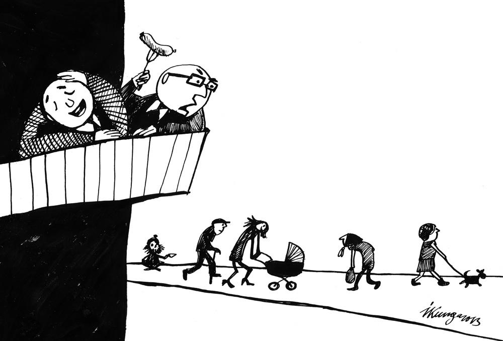 28-08-2013 — Kādu jaunu nodokli lai izdomā?— Man šķiet, ka tauta ir aptaukojusies un dzīvo neveselīgi, būs jāliek tauku nodoklis!
