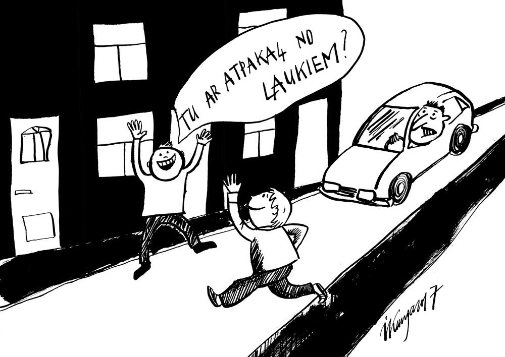28-08-2017 Pilsētas bērni atgriežas no laukiem, autovadītājiem jāsāk uzmanīties.