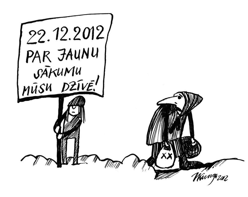 19-12-2012 - atkal tie pasaules gala sludinātāji, būtu vismaz kārtīgu darbu meklējuši!