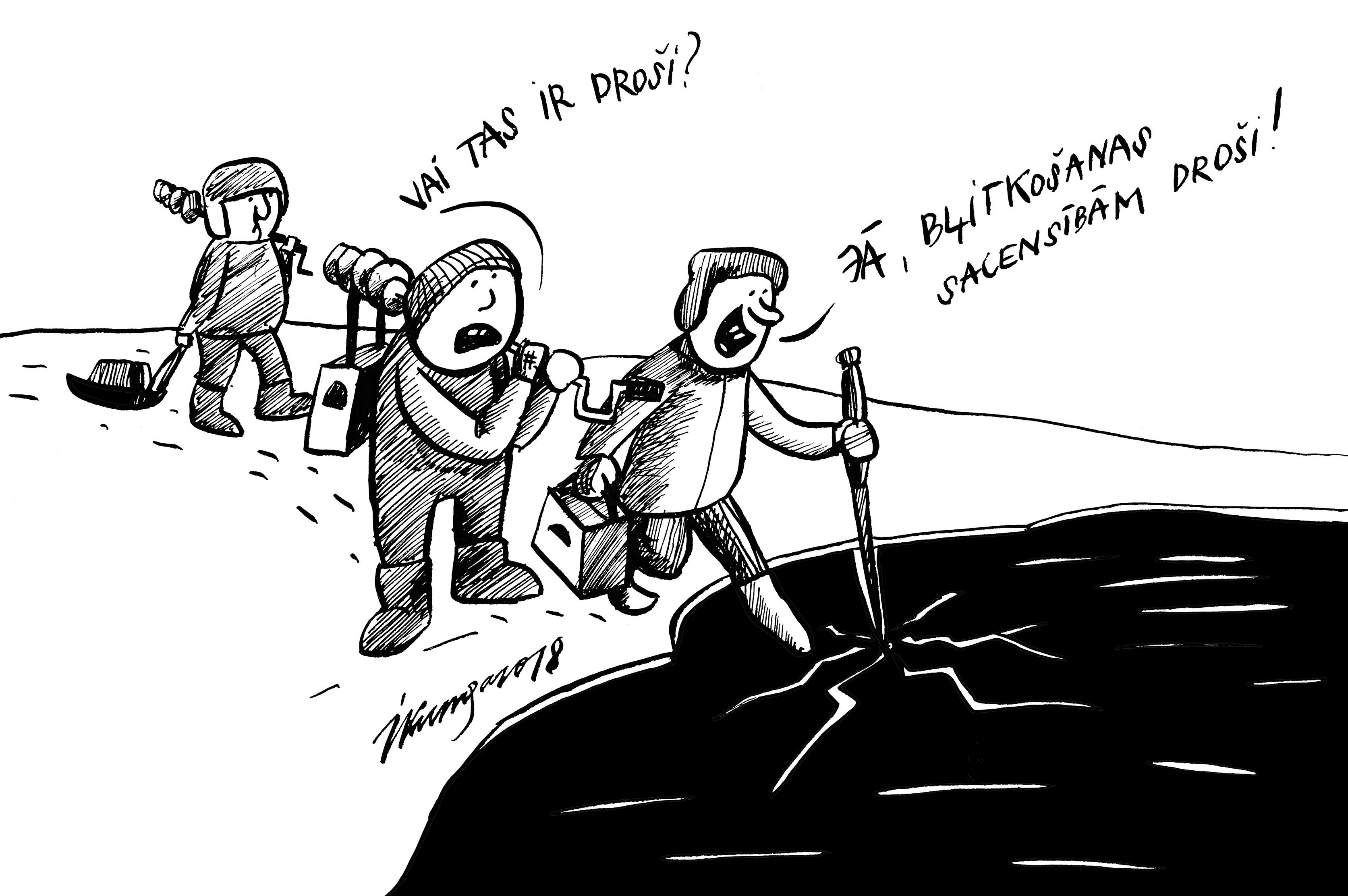 Karikatura_10-01-2018 Pirmais ledus.