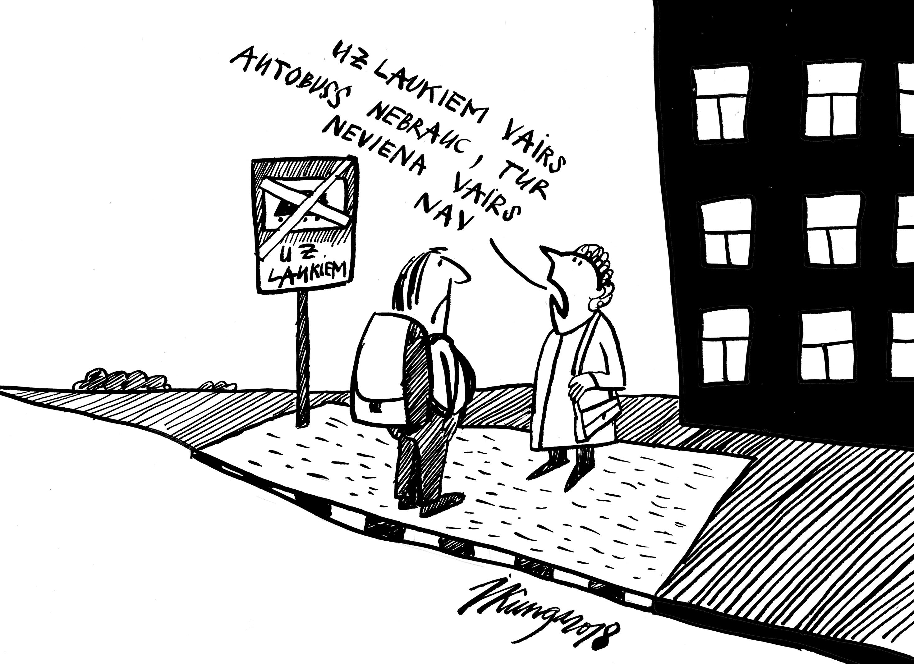 Karikatura_11-01-2018 Samazinās autobusu reisus.