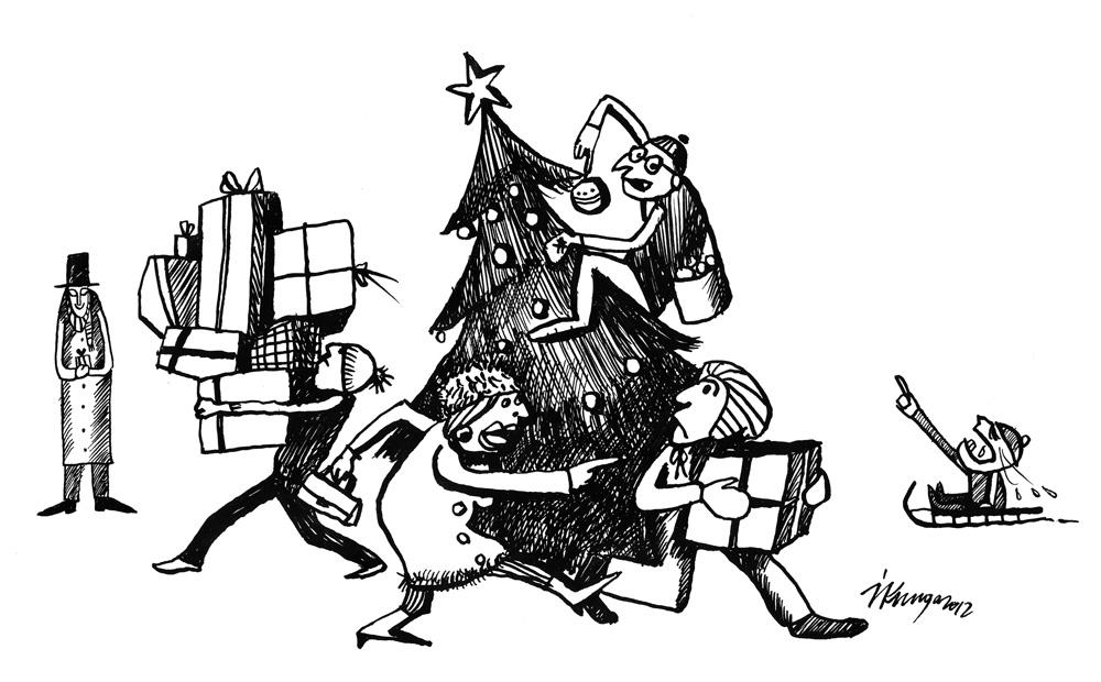 13-12-2012 Ir sācies mierīgais Ziemassvētku iepirkšanās laiks.