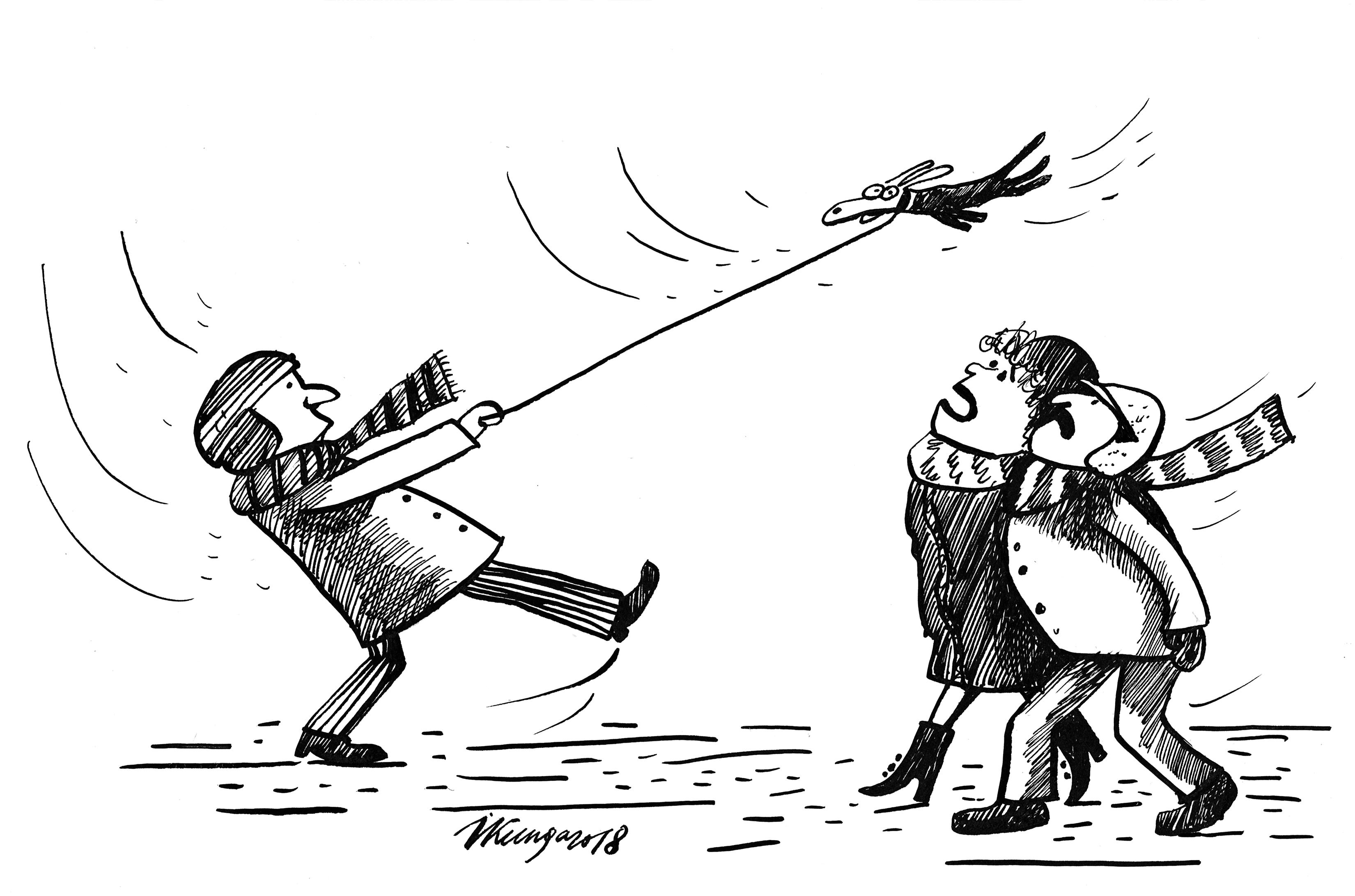 Karikatura_15-01-2018 Gaidāms auksts stiprs vējš!