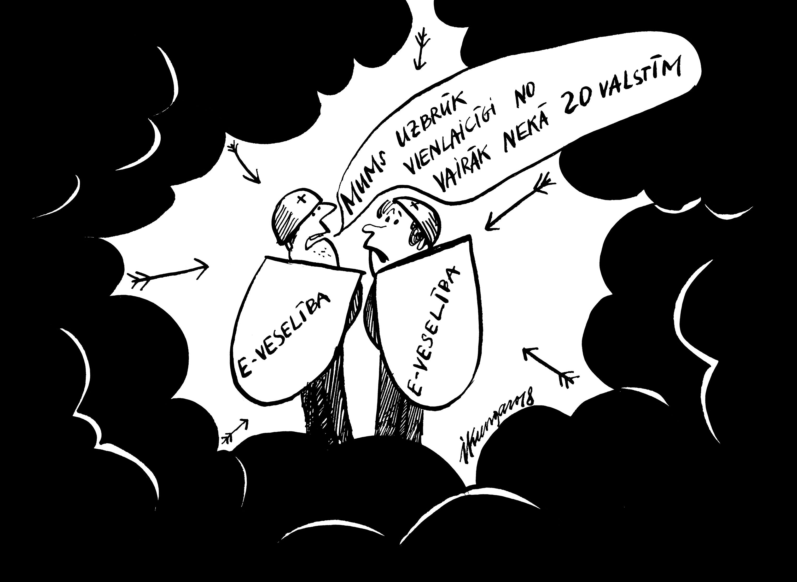 Karikatura_17-01-2018 Uzbrukumi e-veselības sistēmai.