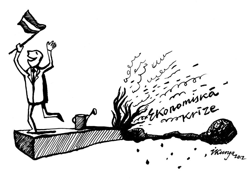 17-10-2012 Priecīgais tautas kalps: — Latvija ir glābta, uguns ir apturēta!!! — Un uz cik ilgu laiku?