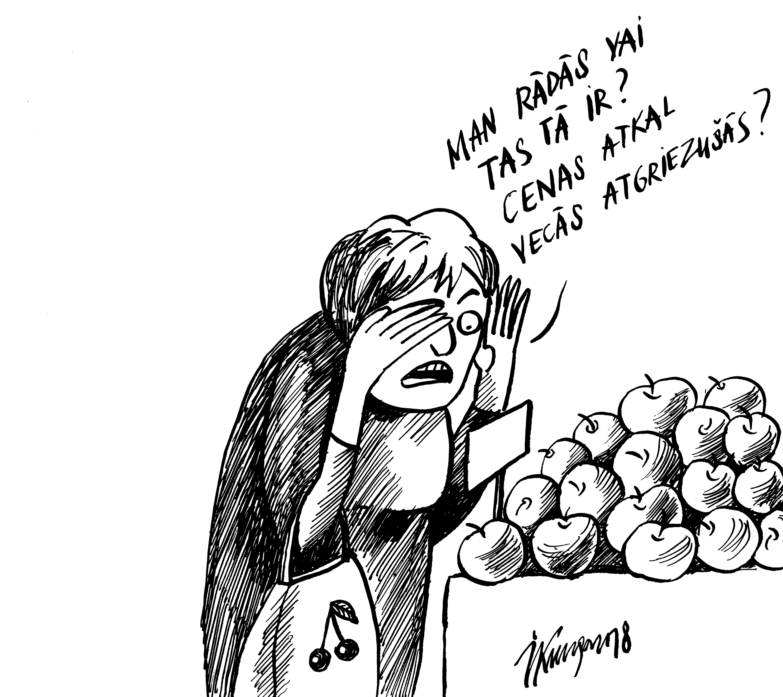 Karikatura_25-01-2018 Pēc PVN samazināšanas augļi un dārzeņi atgriežas vecajās cenās.