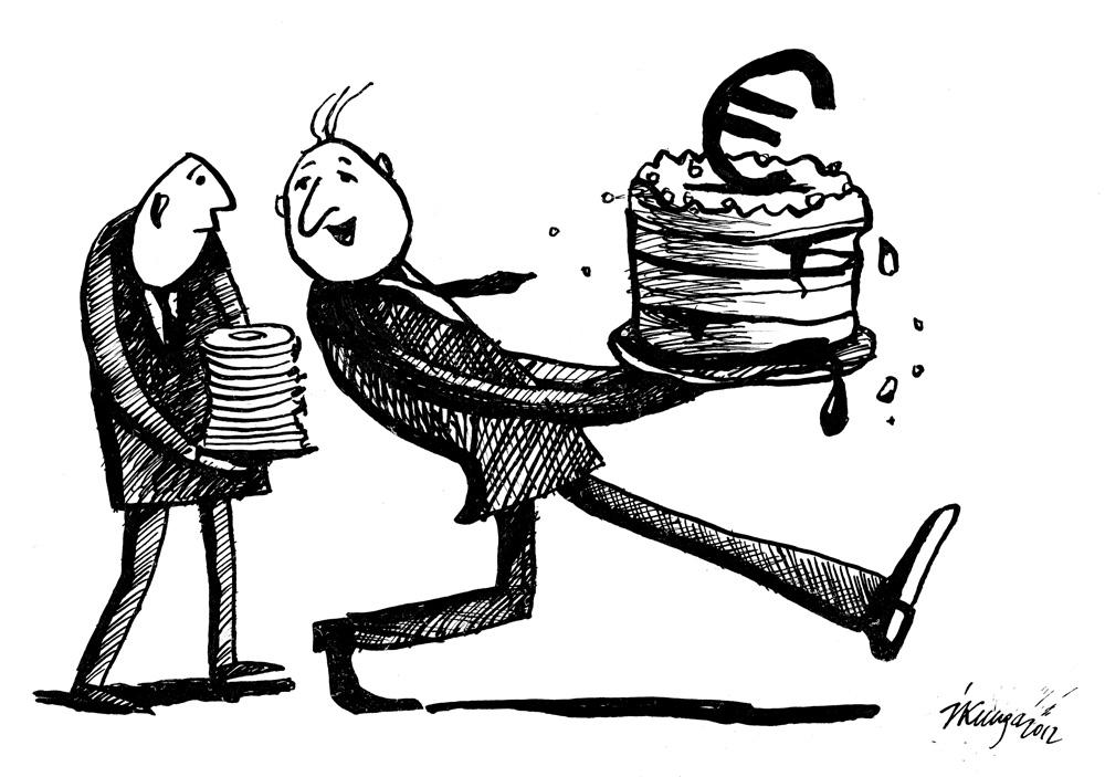 03-10-2012 - kamēr šī torte vēl nav izjukusi, ir ātri jāpiedāvā tautai pirms iespējamā Eiro referenduma.