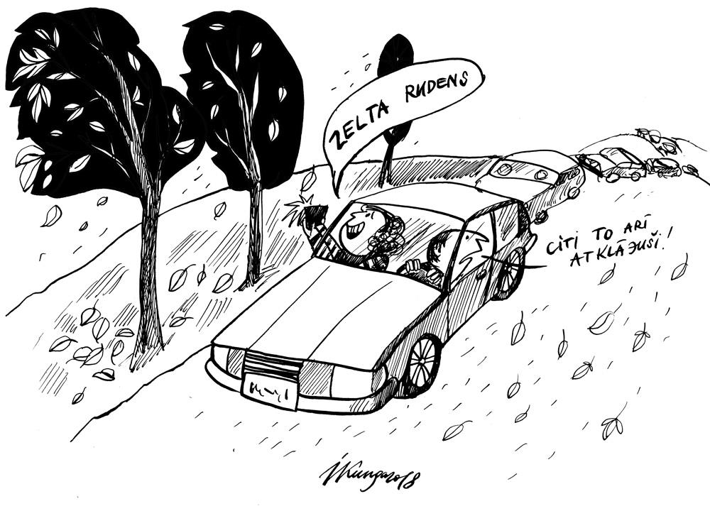 15-10-2018 Pilsētnieki steidz baudīt rudeni.