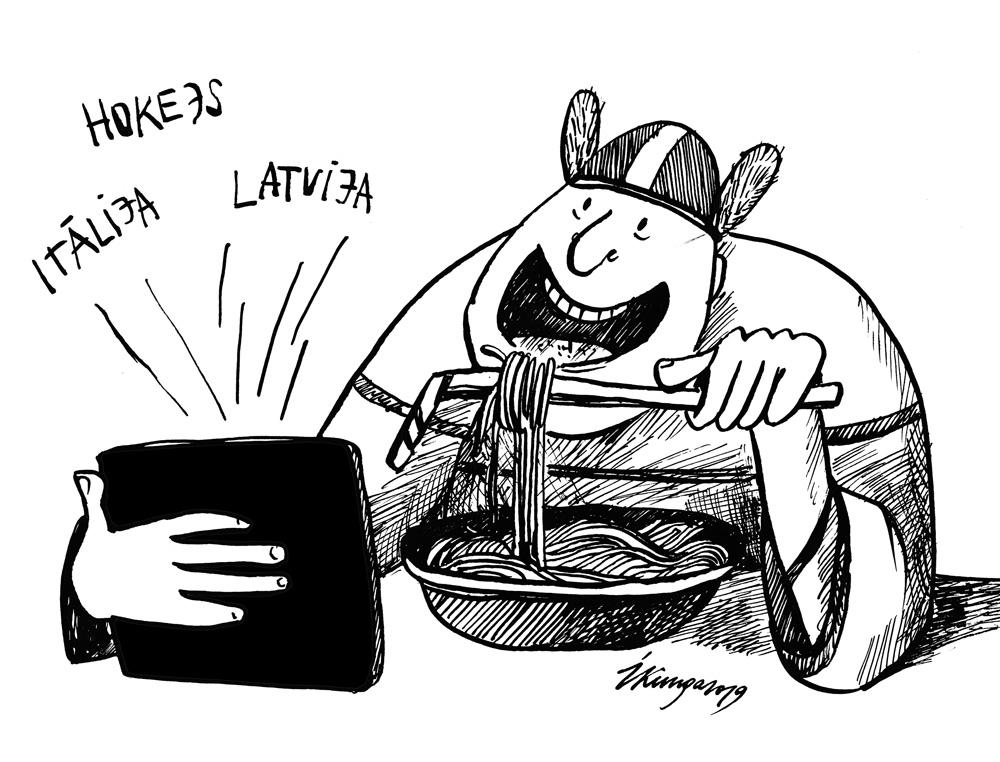13-05-2019 — Hokeja čempionāts, šodien Itālija – Latvija.