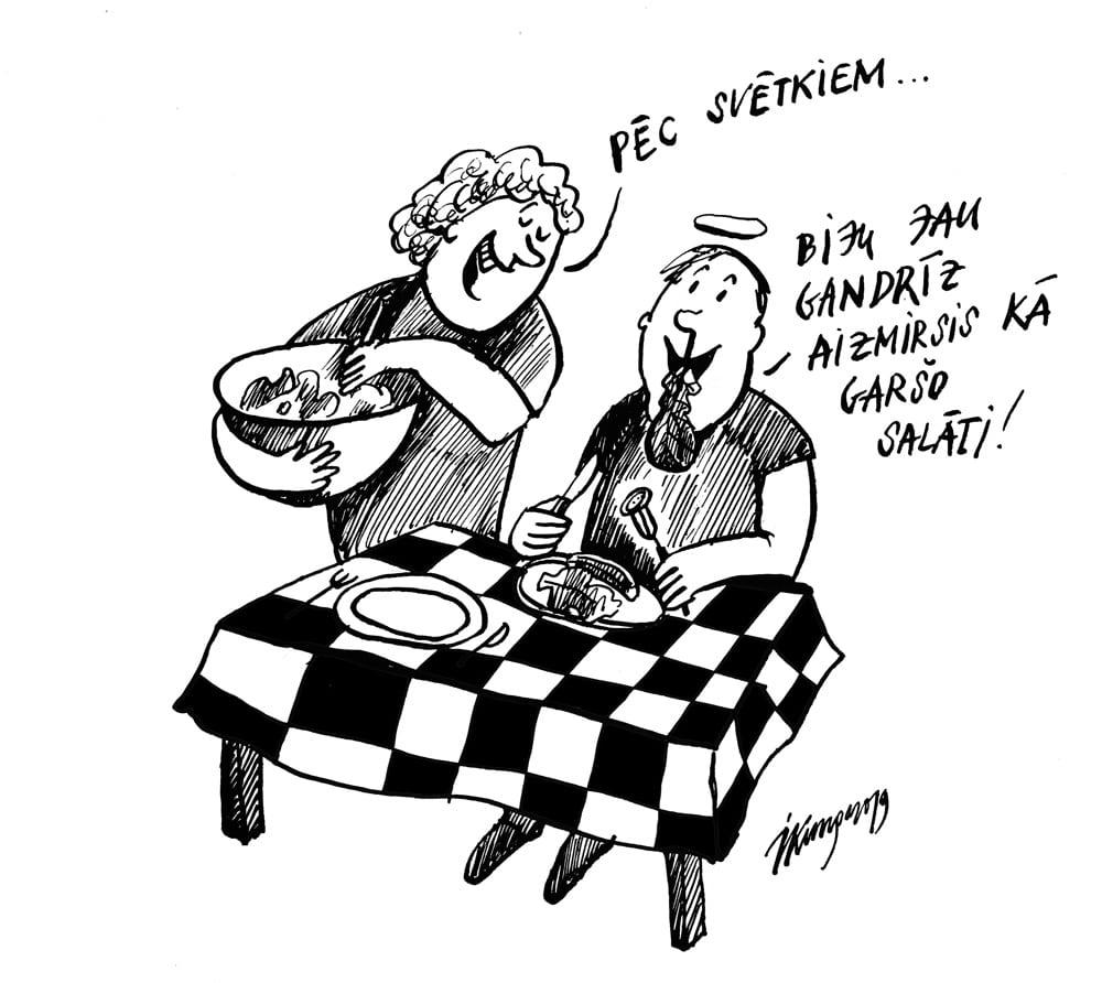 26-06-2019 Pēc Jāņiem kāds kļūs par veģetārieti, jo visi pārēdušies gaļu. Grillēja un ēda uz nebēdu.