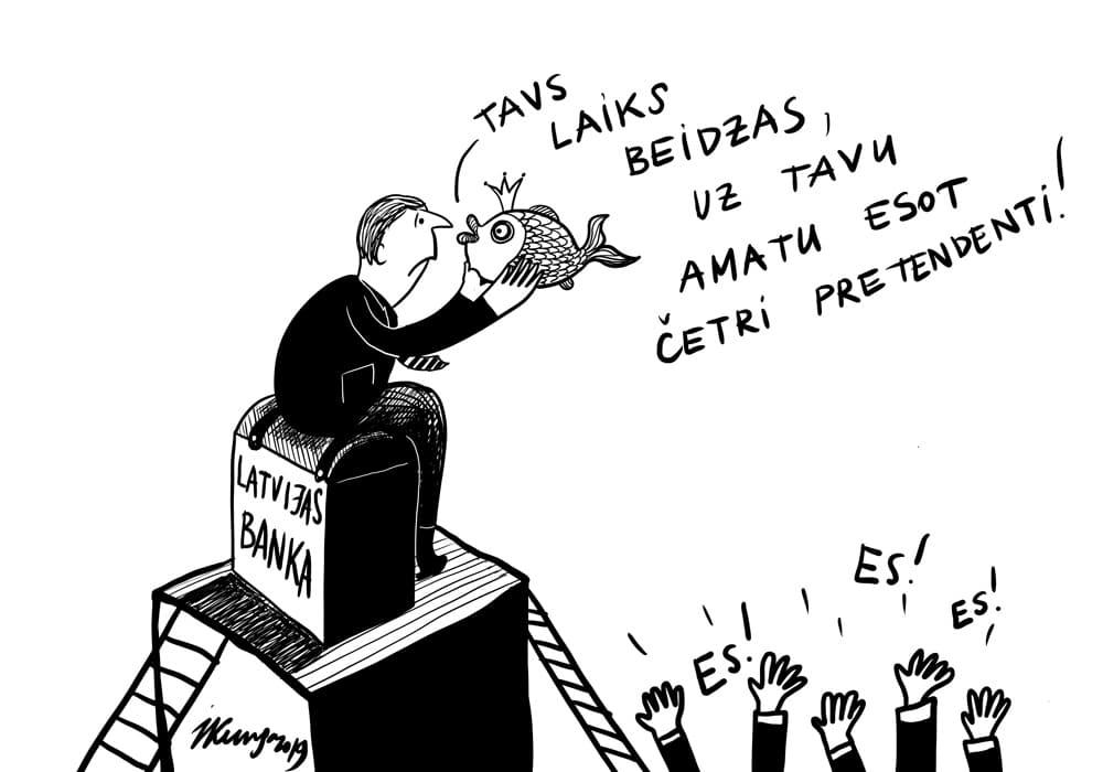 Karikatura_02-10-2019-Tuvojas Latvijas Bankas prezidenta vēlēšanas.