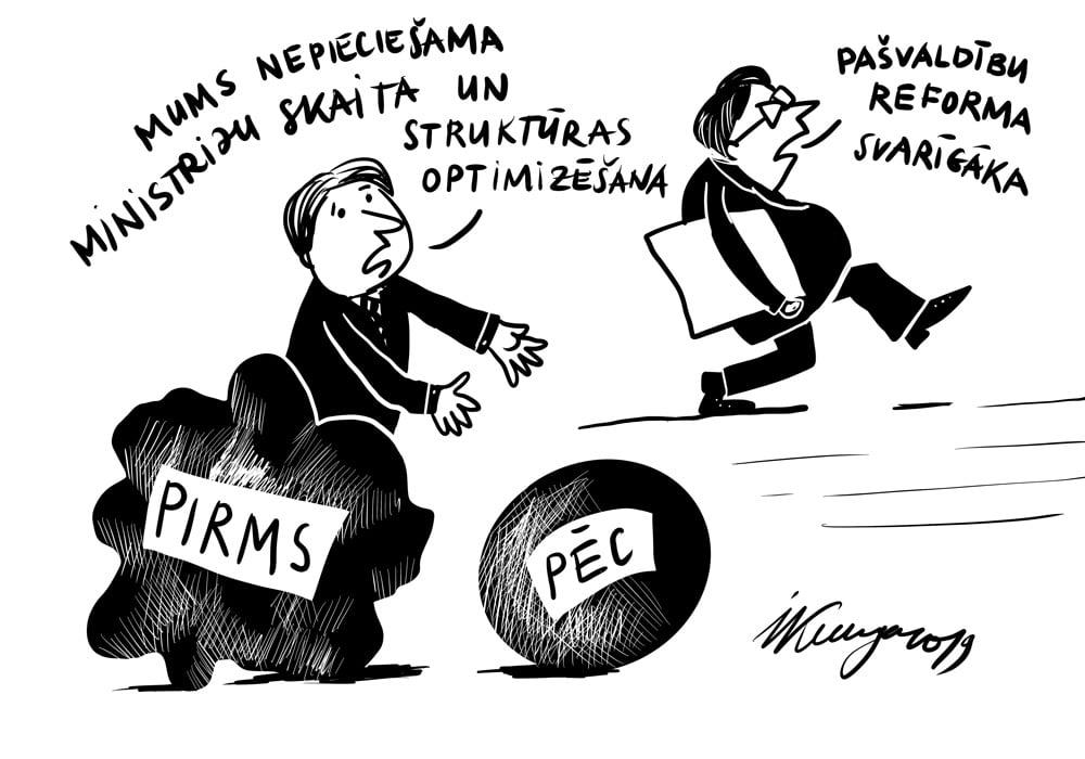 Karikatura_03-10-2019-Svarīgām ministriju reformām liek gaidīt.