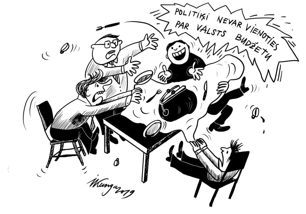 Karikatura_09-09-2019-Politiķi nevar vienoties par valsts budžetu.