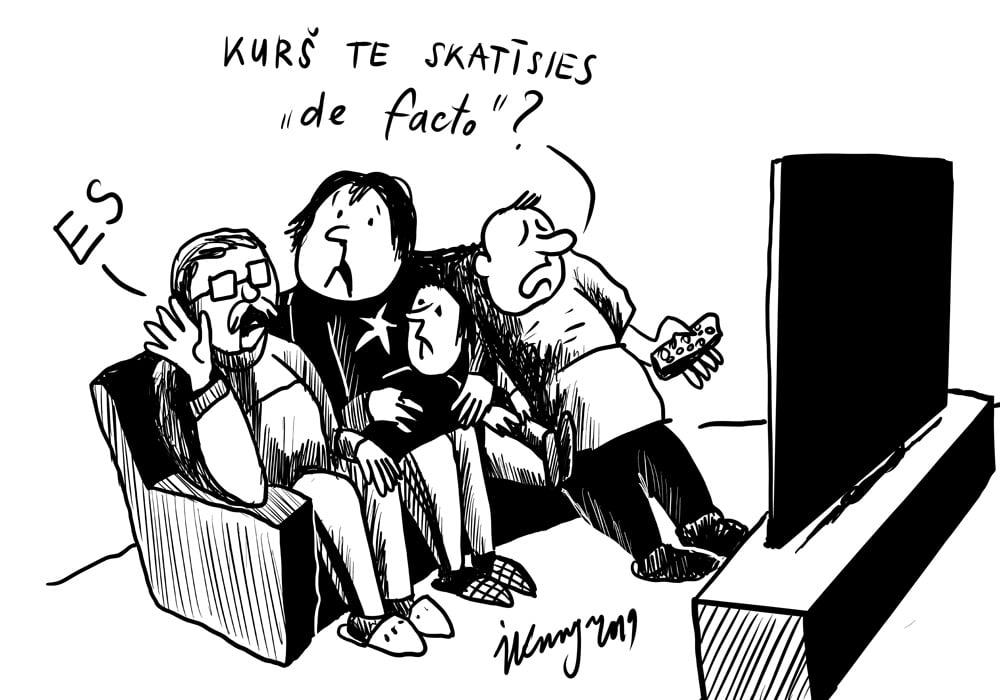 Karikatura_16-10-2019-Pētījums atklāj: televīzijā skatītāki ir dažādi šovi, analītiski un ziņu raidījumi — mazāk populāri.