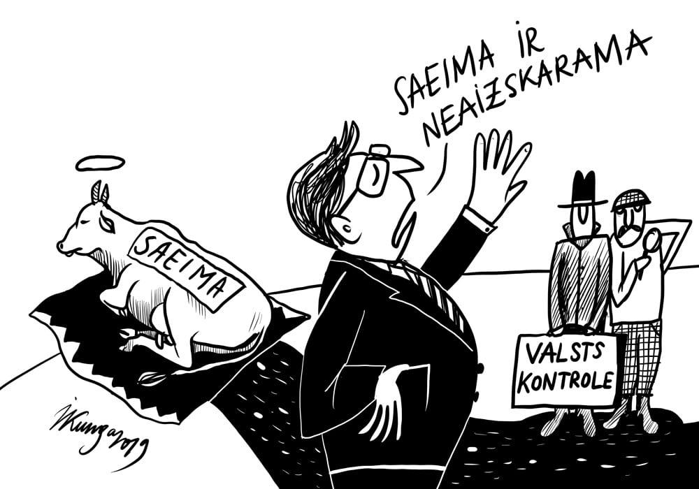 Karikatura_04-11-2019 / Saeima ir neaizskarama, arī priekš valsts kontroles.