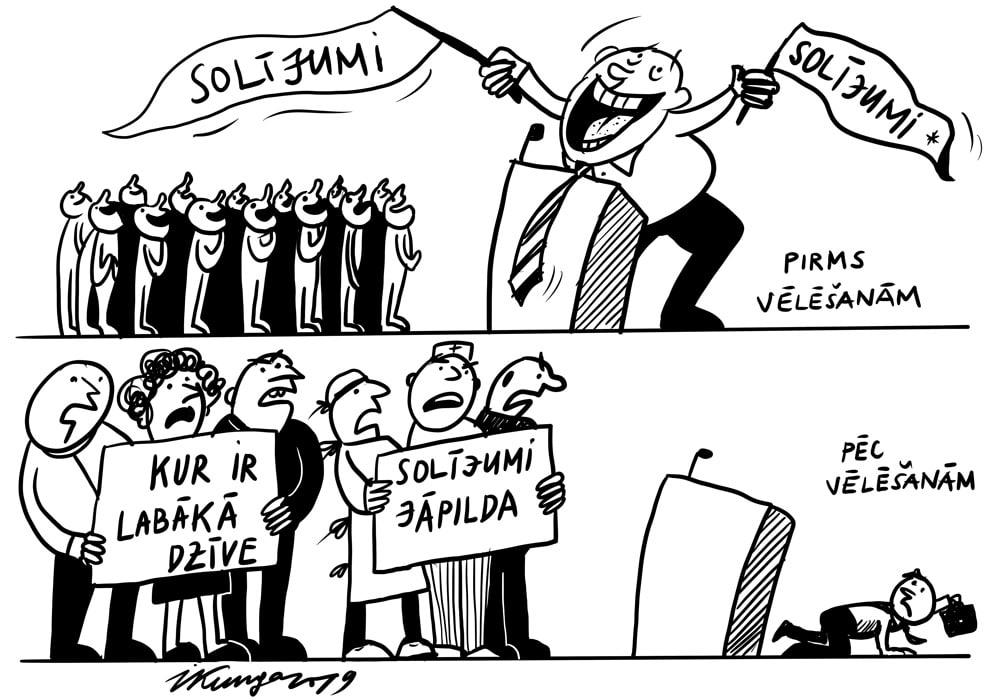 Karikatura_06-11-2019 / Protestu ceturtdiena.