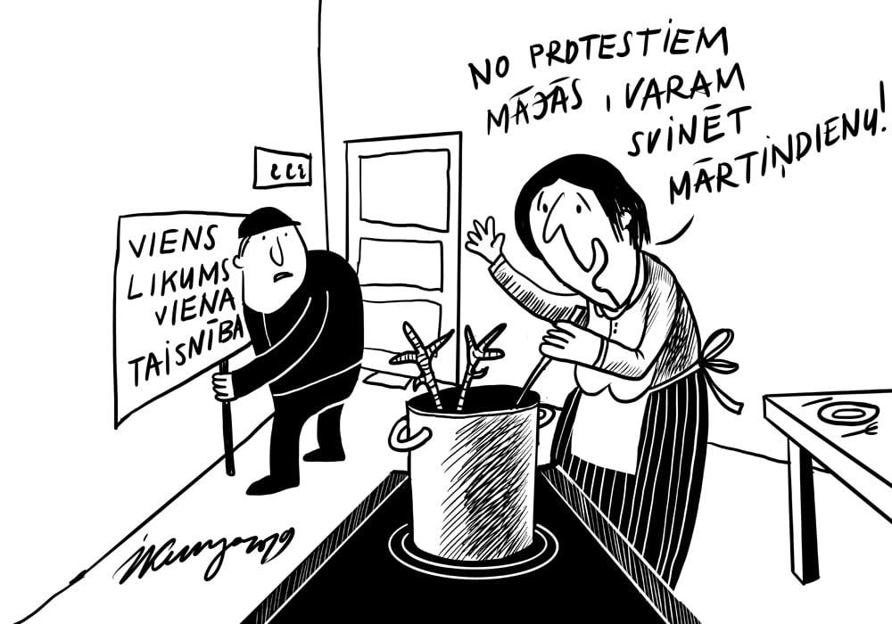 Karikatura_07-11-2019 / Svētdien — Mārtiņdiena.