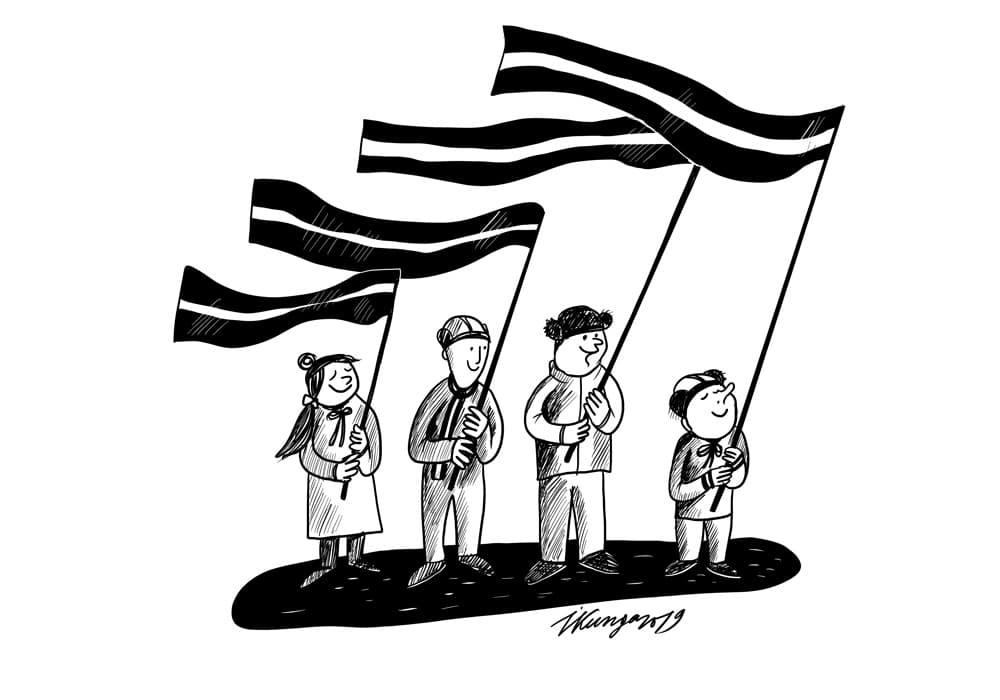 Karikatura_11-11-2019 / Svinam Lāčplēša dienu.