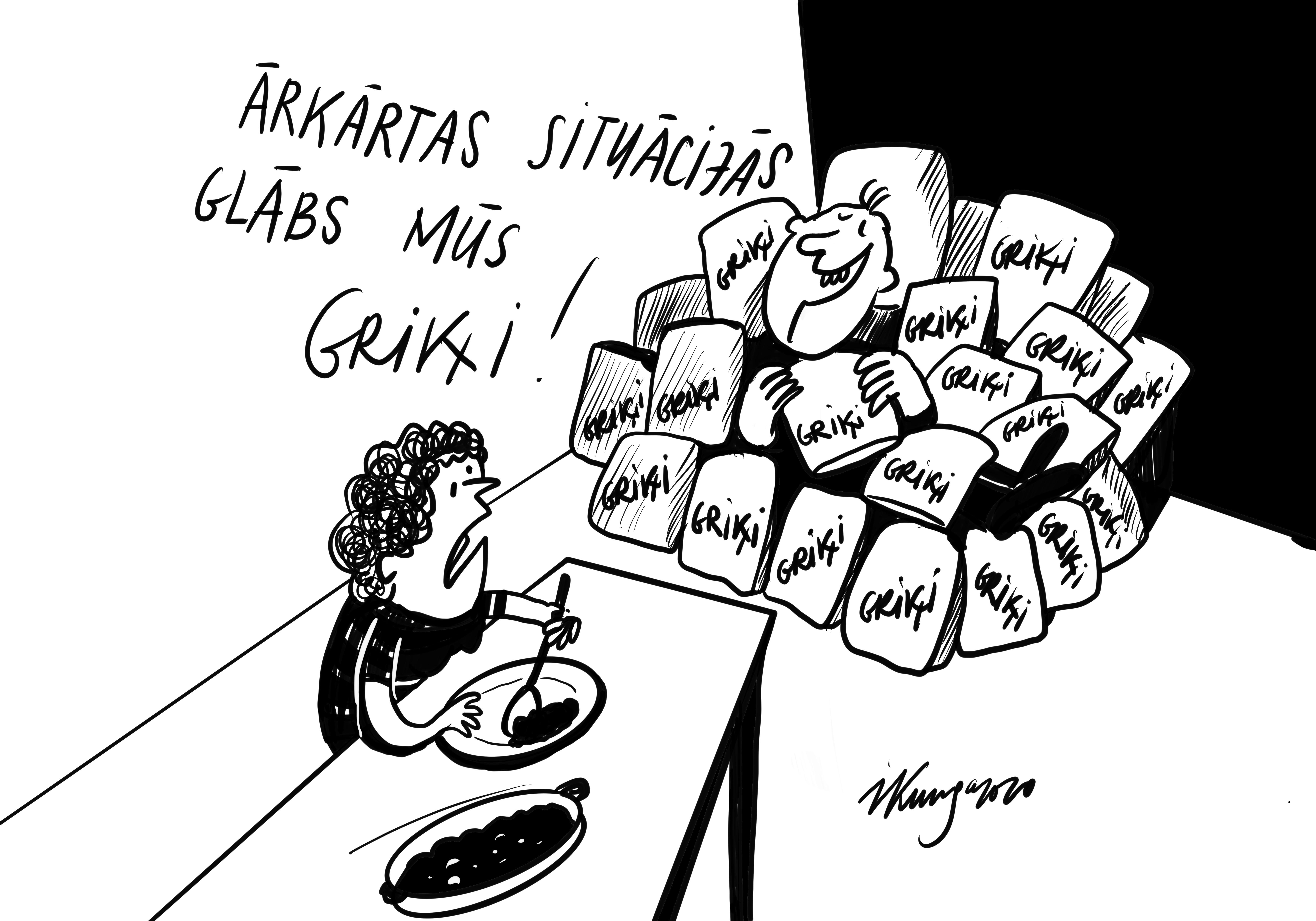 Karikatura_18-03-2020 - Labu apetīti, griķu ēdieni vairāku gadu garumā!