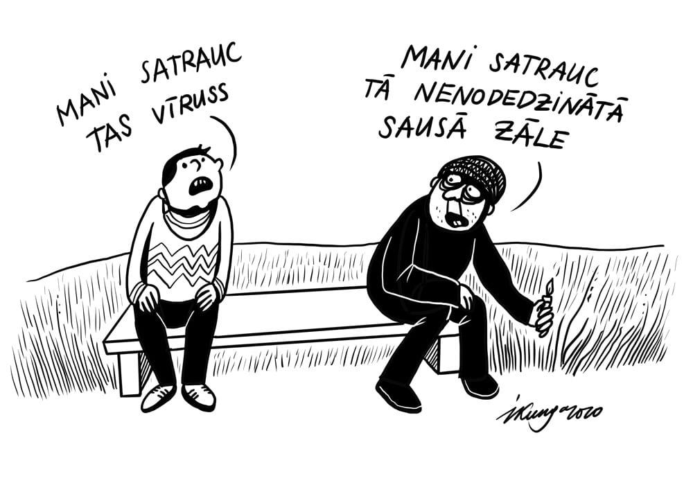 Karikatura_23-04-2020 / Kūlas dedzinātāji Latvijā