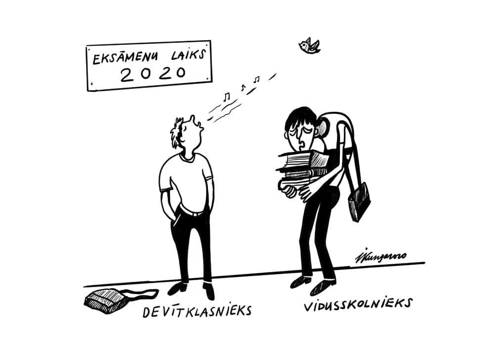 Karikatura_06-05-2020 / Eksāmenu laiks 2020