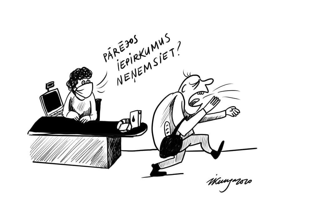 Karikatura_13-05-2020 / Ja klepo, ne vienmēr ir COVID-19.