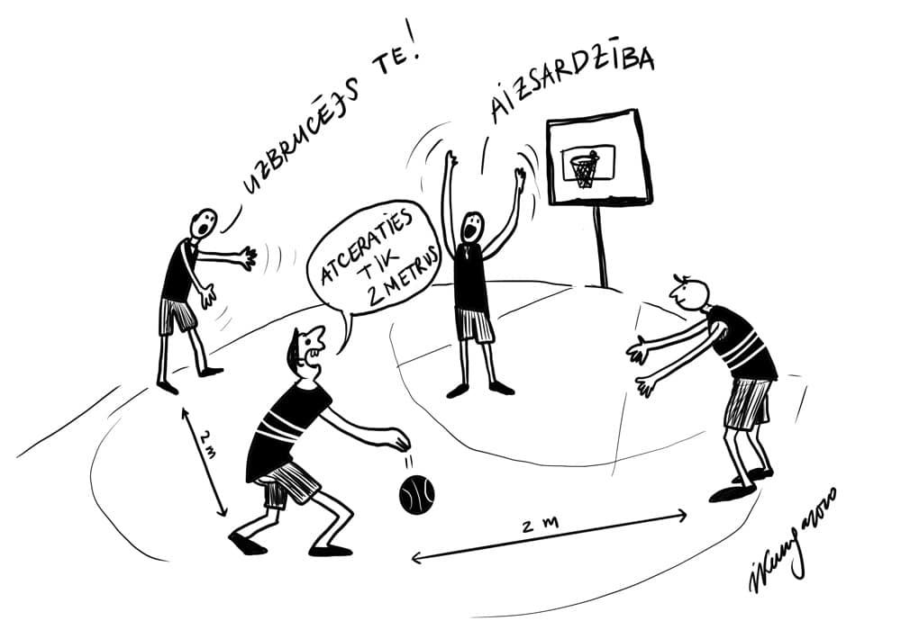 Karikatura_14-05-2020 / Treniņi COVID-19 laikos!
