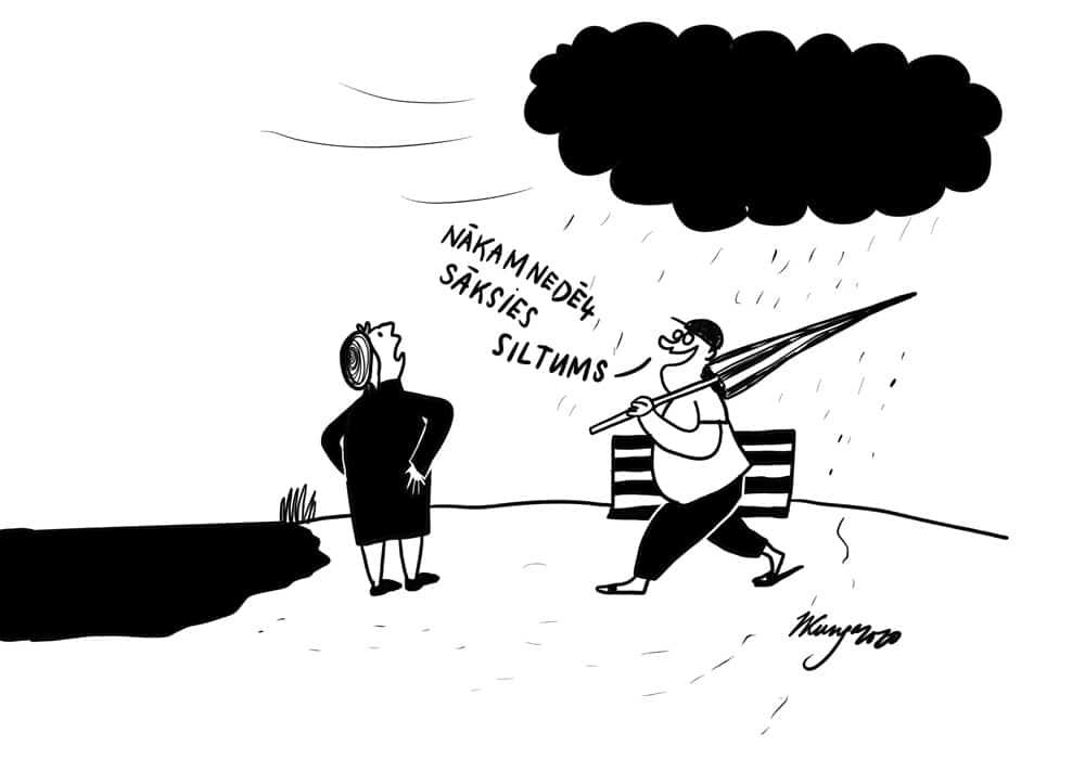Karikatura_20-05-2020 / Tuvojas siltums