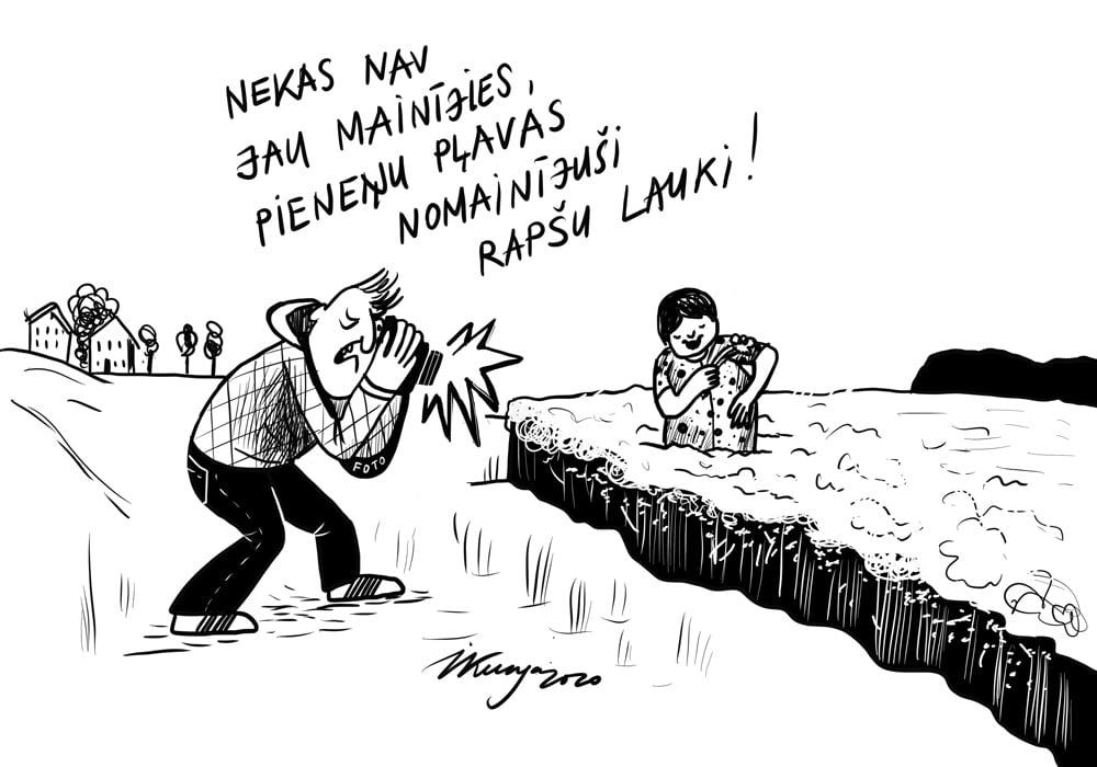 Karikatura_21-05-2020 / Foto rapšu laukos ļoti populāri