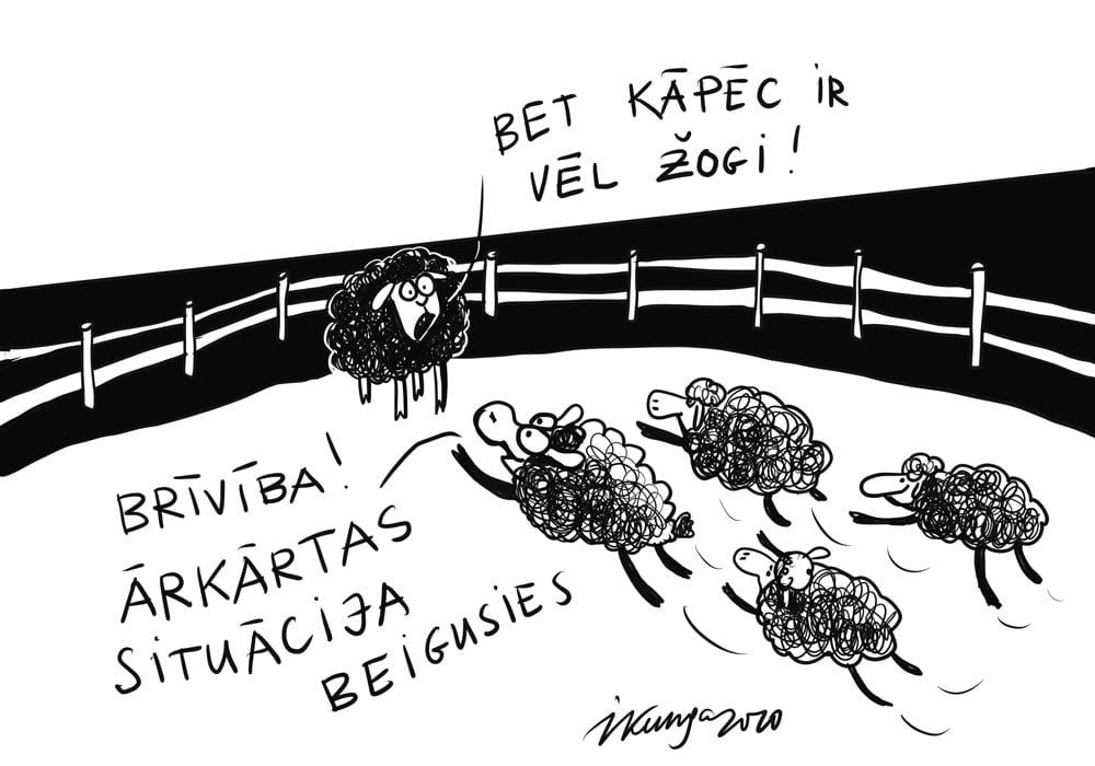 Karikatura_08-06-2020 / Ārkārtas situācija beigusies