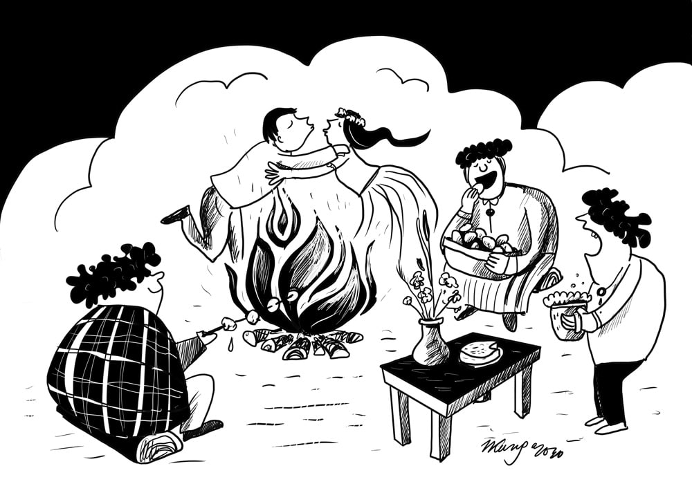 Karikatura_18-06-2020 / Jāņu nakts varianti.
