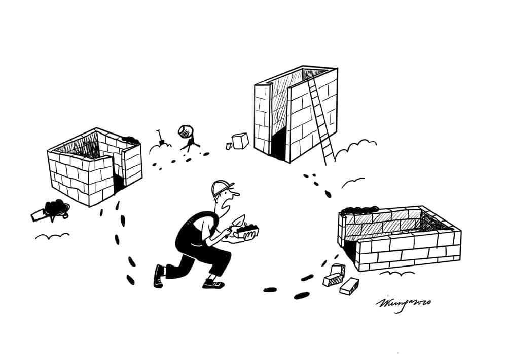 Karikatura_25-06-2020/ Latvijas būvniekiem ļoti trūkst darbaroku.
