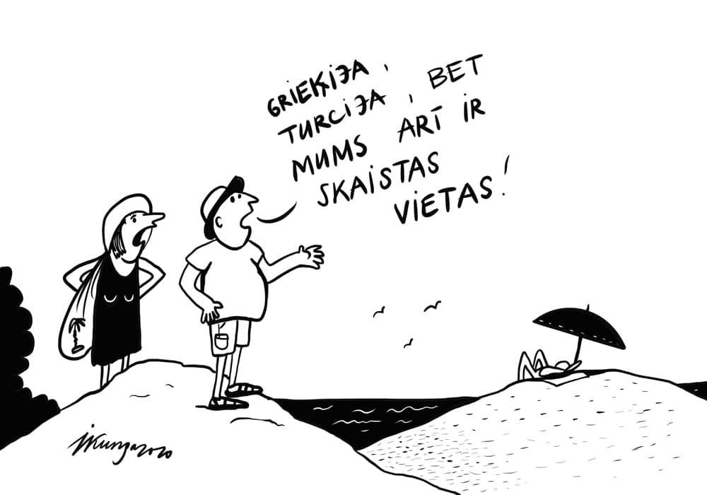 Karikatura_13-08-2020 - Covids būs iemācījis atklāt Latviju.