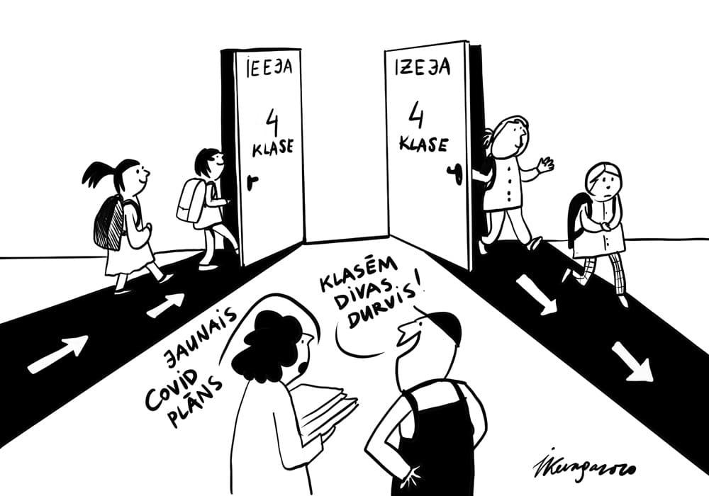 Karikatura_20-08-2020 - Skolas Covid laikos
