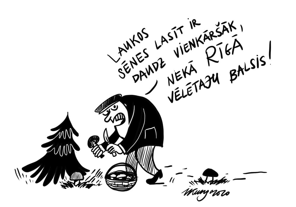 Karikatura_27-08-2020 - Kas tai Rīgai — pretendentu daudz, un visi grib.