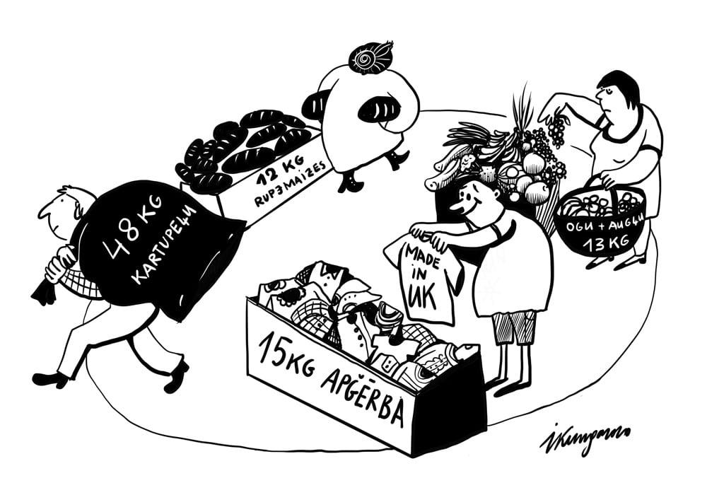 Karikatura_16-09-2020 - Latvieša iztikas grozs gadam.