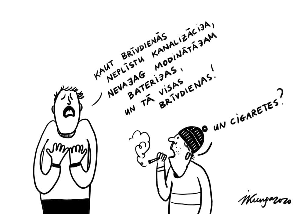 Karikatura_07-12-2020 - Kaut brīvdienās neplīstu kanalizācija