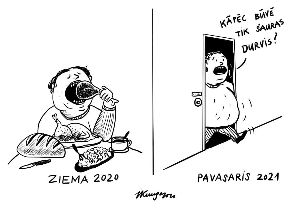 Karikatura_09-12-2020 - Vienīgā izklaide tikai garšīgi paēst.