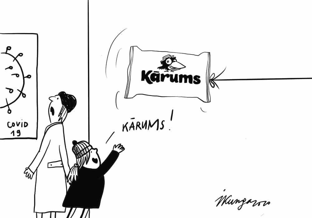 Karikatura_17-12-2020 - Latvijā iecienītākais produkts ir sieriņš Kārums.